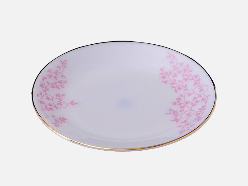 Đĩa Nông Thủy Tinh 7 Inch Vẽ Hoa
