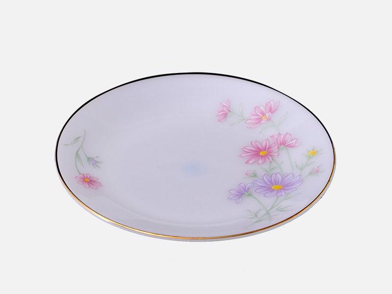 Đĩa Nông 7 Họa Tiết Hoa Màu Hồng