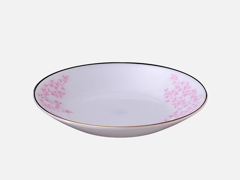 Đĩa Sâu 10 Thuỷ Tinh Ngọc Opal Hoa Dây Hồng 208K