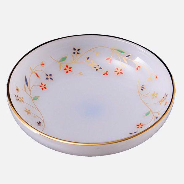 Đĩa Muối Tiêu Thủy Tinh Opal Vẽ Hoa