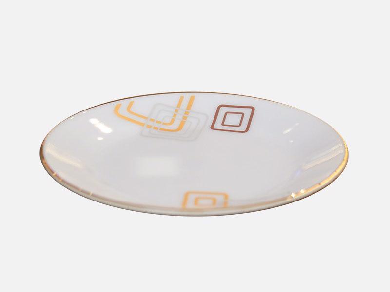 Đĩa Nông Thủy Tinh Opal 9 Inch Hoa Vuông