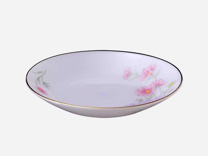 Đĩa sâu 7 họa tiết Hoa màu hồng 95k