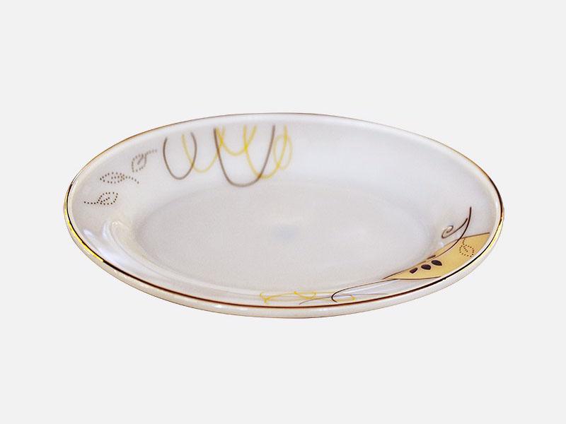 Đĩa Xoài Đại Thủy Tinh Opal Họa Tiết Hoa
