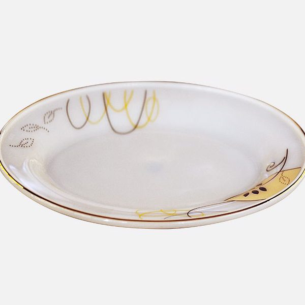 Đĩa Xoài Thủy Tinh Opal Nhỏ Họa Tiết Hoa