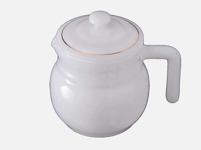 Ấm Caffe To Họa Tiết Hoa Trắng 1.4L
