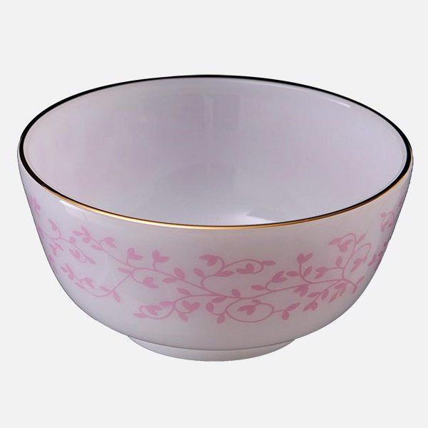 Bát cơm đáy to họa tiết Hoa dây hồng
