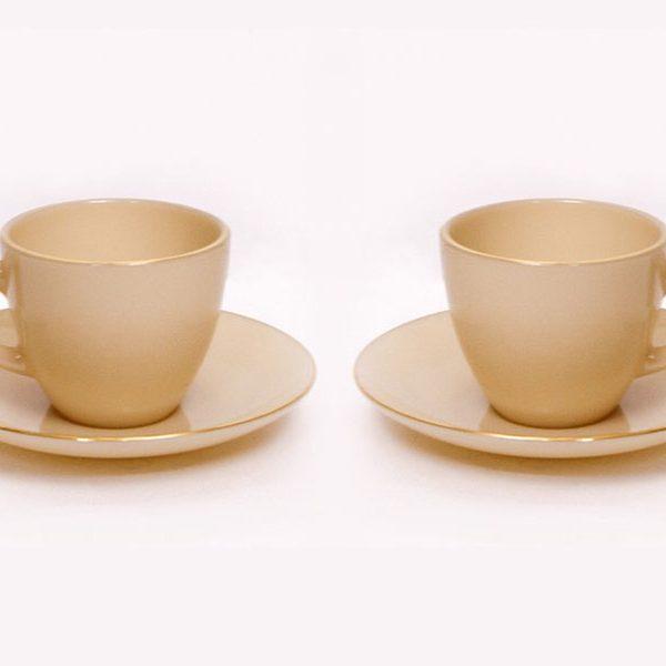 Bộ Đôi Tách Đĩa Caffe Nâu Topaz