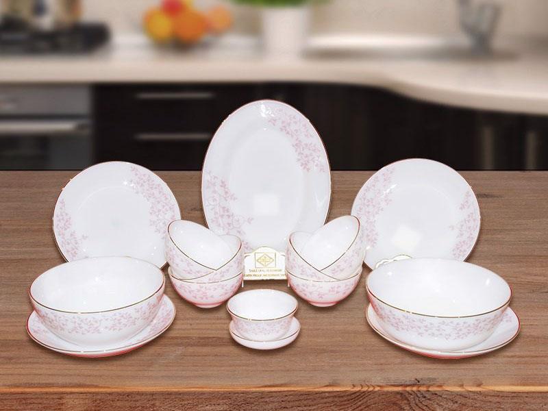 Bộ Đồ Ăn Thủy Tinh Opal Ngọc 15 Sản Phẩm