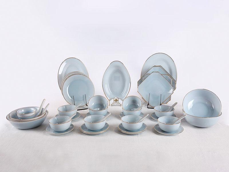 Bộ Đồ Ăn 48 Sản Phẩm Màu Xanh Biển Aquamarine
