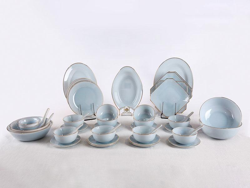 Bộ Đồ Ăn 62 Sản Phẩm Màu Xanh Biển Aquamarine