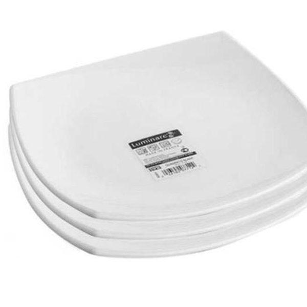 Bộ 3 Đĩa thủy tinh Luminarc White Quadrato Dessert 19cm