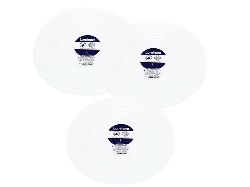 Bộ 3 đĩa thủy tinh Luminarc Harena-25cm
