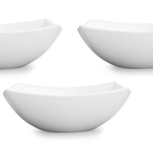 Bộ 3 Tô thủy tinh Luminarc Quadrato trắng 16cm