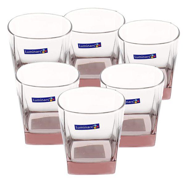Bộ 6 ly thấp thủy tinh Luminarc Sterling Ice Pink 300ml