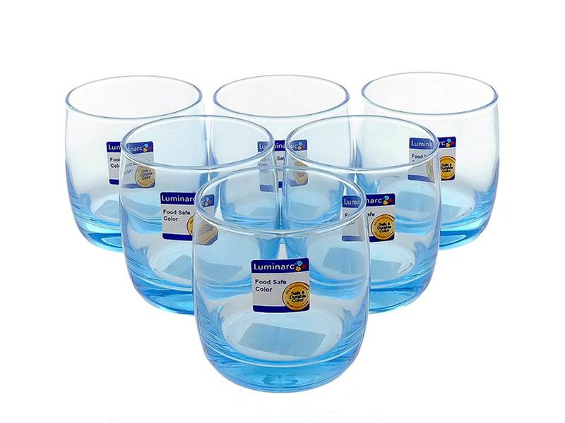 Bộ 6 Ly Thủy Tinh Thấp Luminarc Vigne Ice Blue 310Ml