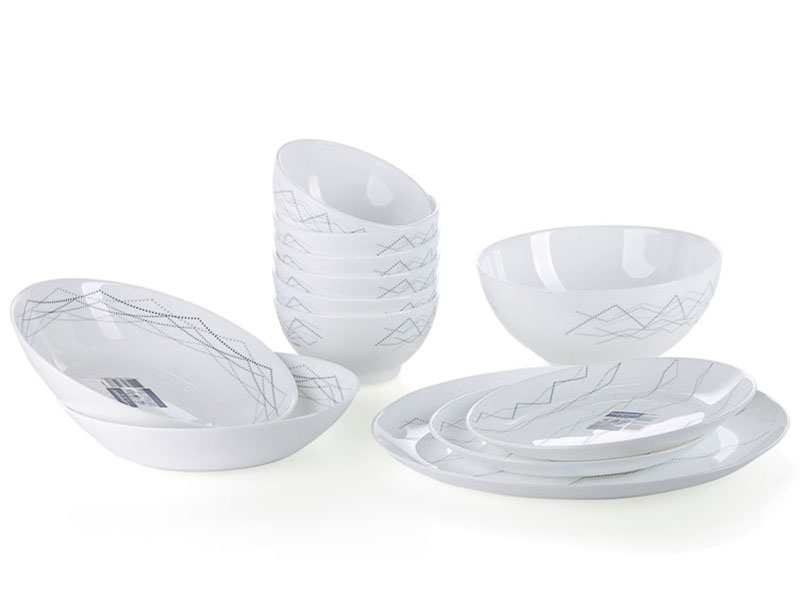 Bộ Bàn Ăn Thủy Tinh Luminarc Diwali Marble Small 12 Món