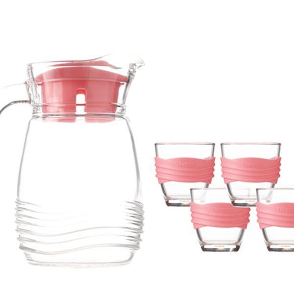 Bộ bình ly thủy tinh Luminarc Coastline hồng
