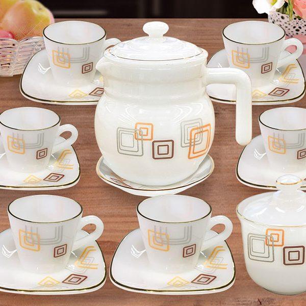 Bộ Caffe Espresso 15 Món Hoa Vuông