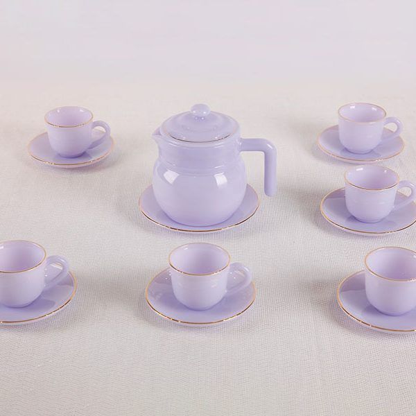 Bộ trà 14 món màu Tím Thạch Anh