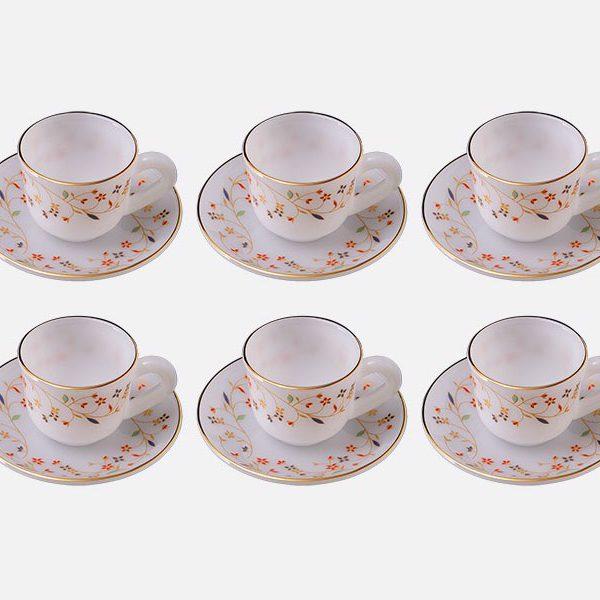 Bộ tách trà nhỏ dáng H Hoa mùa xuân