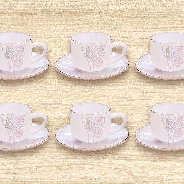 Bộ tách trà nhỏ dáng thẳng Hoa dây huyền bí