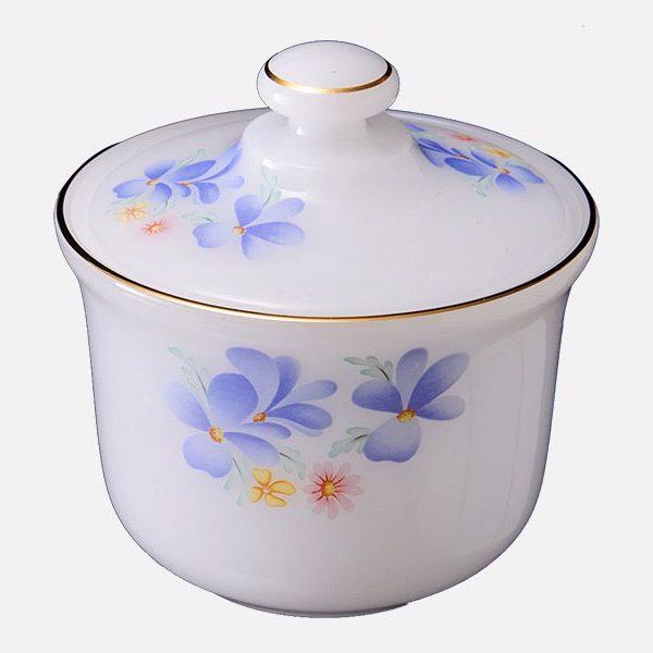 Hũ đường họa tiết Hoa màu xanh