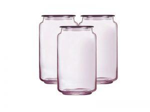 Hũ Thủy Tinh Rondo Ice Pink Luminarc 1L