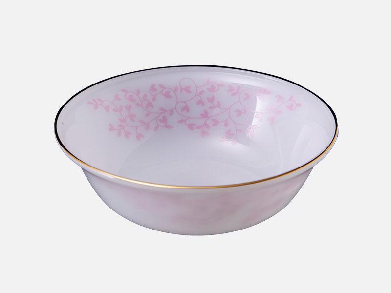 Tô Loe Thủy Tinh Opal 7 Inch Họa Tiết Hoa