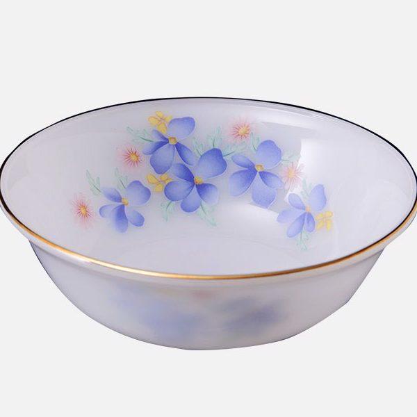 Tô loe 7 họa tiết Hoa màu xanh