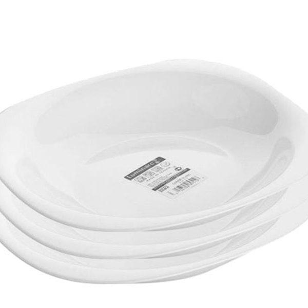 Bộ 3 Đĩa thủy tinh Luminarc Carine Soup 21cm