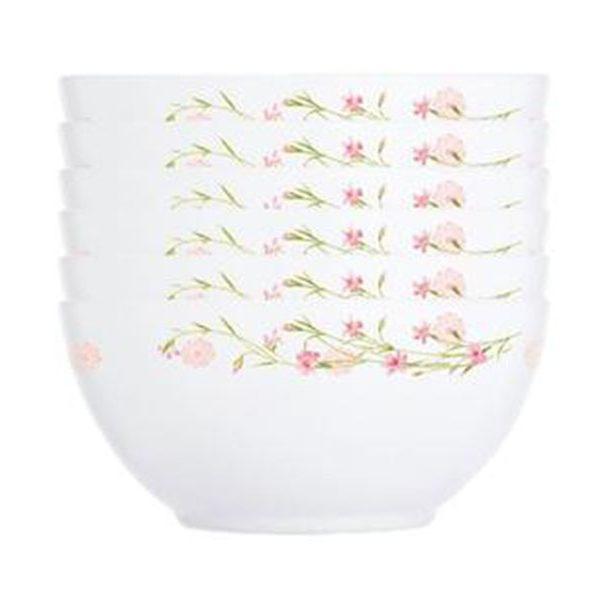 Bộ 6 Chén Thủy Tinh Luminarc Diwali Romance Pink- 12Cm