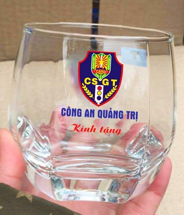 In Logo Ảnh Lên Cốc Ly Thủy Tinh