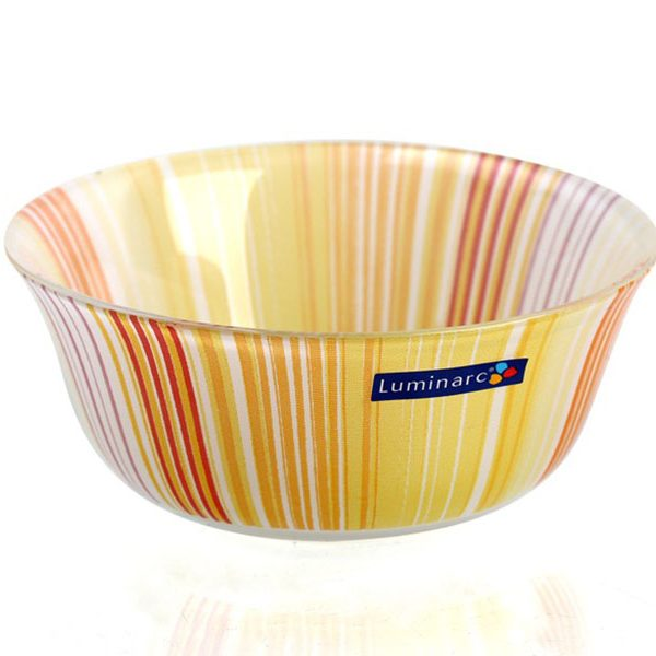 Tô Thủy Tinh TEMP CARINA ORANGE STRIPES BOWL 12CM